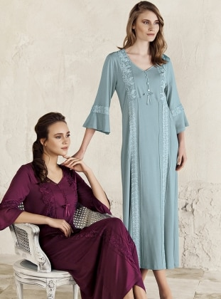 Green – V Neck Collar – Nightdress – Artis Collection