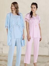 Pink - Crew neck - Pyjama