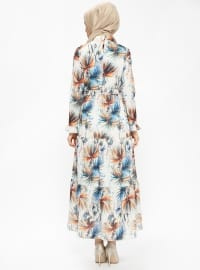Ecru - Multi - Polo neck - Fully Lined - Dresses