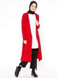 Red - Shawl Collar - Topcoat