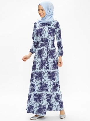 Blue – Multi – Crew Neck – Unlined – Dresses – Rtw Trend