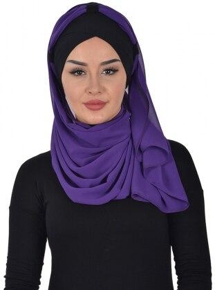 Black - Purple - Instant Scarf