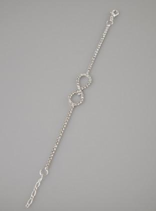 Fsg Takı Gümüş Kaplama Kristal Taşlı Bileklik - Gümüş