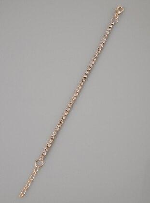 Fsg Takı Gümüş Kaplama Kristal Taşlı Bileklik - Rose