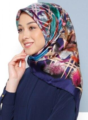 İpek Tiwil Eşarp - Karışık Renkli - Aker Ürün Resmi