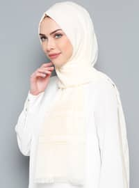 Ecru - Plain - Shawl