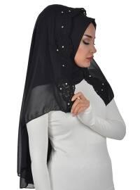 Black - Lace - Plain - Instant Scarf
