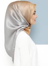 Multi - Plain - %100 Silk - Satin - Crepe - Scarf