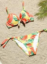 Balconet Bikini - Sarı Kırmızı - AQUELLA