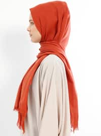 Orange - Plain - Shawl
