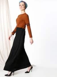 Garnili Elbise - Kiremit - MisCats