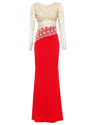 Kırmızı Tesettür Abiye Modelleri ve Fiyatları - Modanisa com
