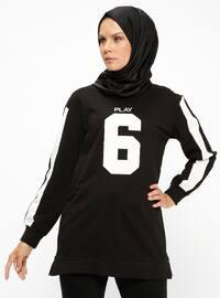 Spor Tunik - Siyah - PİLİSE