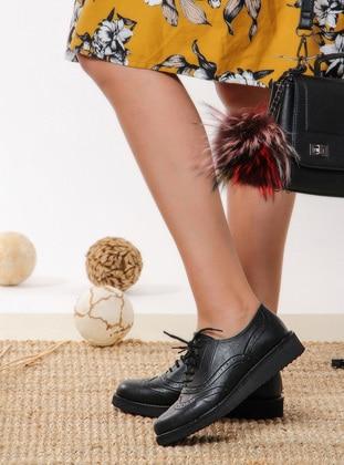 Ayakkabı - Siyah Deri - Shoestime Ürün Resmi