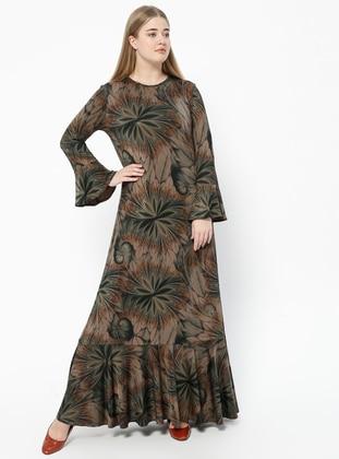 Green – Minc – Multi – Crew Neck – Fully Lined – Dresses – Melisita