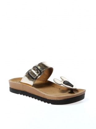 Slippers- Gold