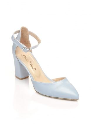 Topuklu Ayakkabı - Su Mavisi - Shoes Time Ürün Resmi