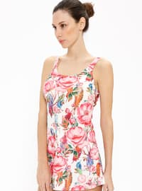 Pink - Floral - Fully Lined - Half Covered Switsuits