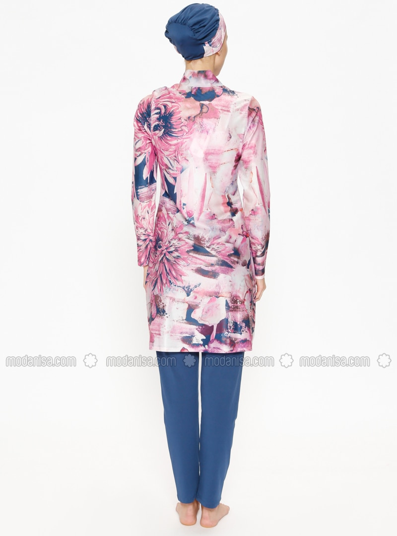Multicolore De Vieux Maillot Bain Couvert Entièrement Rose H2EI9D