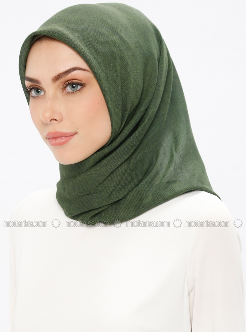 Green - Plain - Scarf