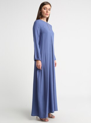 093b8ad6d أزرق - قبة مدورة - نسيج غير مبطن - فستان