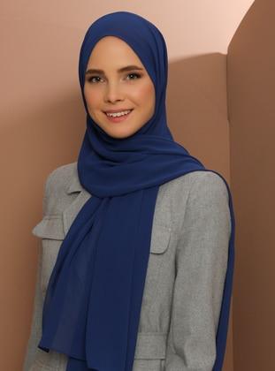 Saxe - Plain - Chiffon - Halima Shawl - Şal