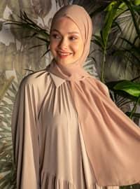 Beige - Plain - Chiffon - Halima Shawl - Şal