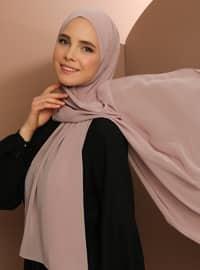 Powder - Plain - Chiffon - Halima Shawl - Şal