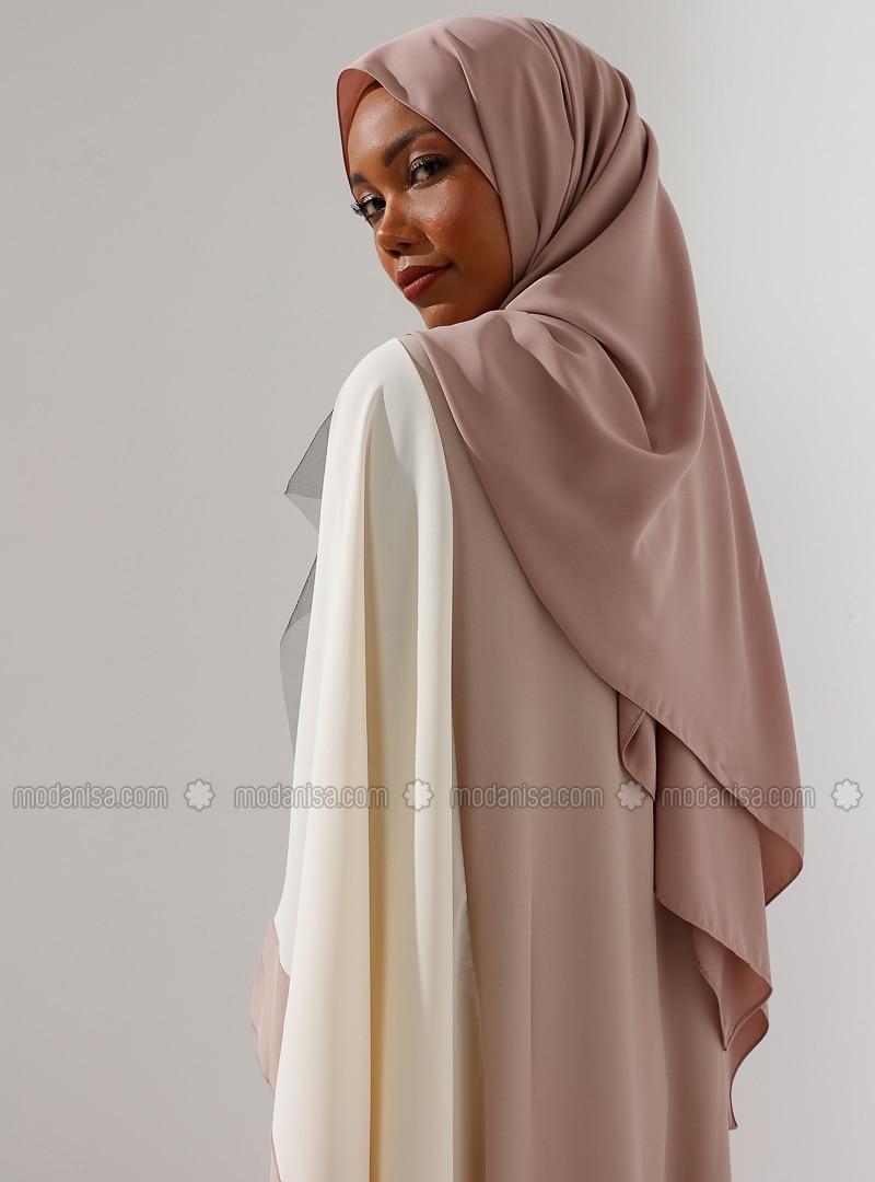 Mink - Plain - Chiffon - Halima Shawl