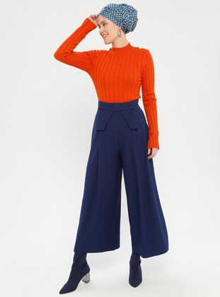 Blue - Navy Blue - Culottes