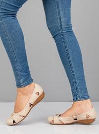 Beige - Flat - Flat Shoes