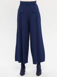 Blue - Navy Blue - Culottes