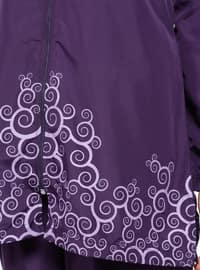 Purple - Multi - Fully Lined - Fully Covered Swimsuits