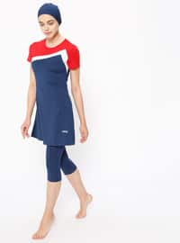 Navy Blue - Fully Lined - Half Covered Switsuits
