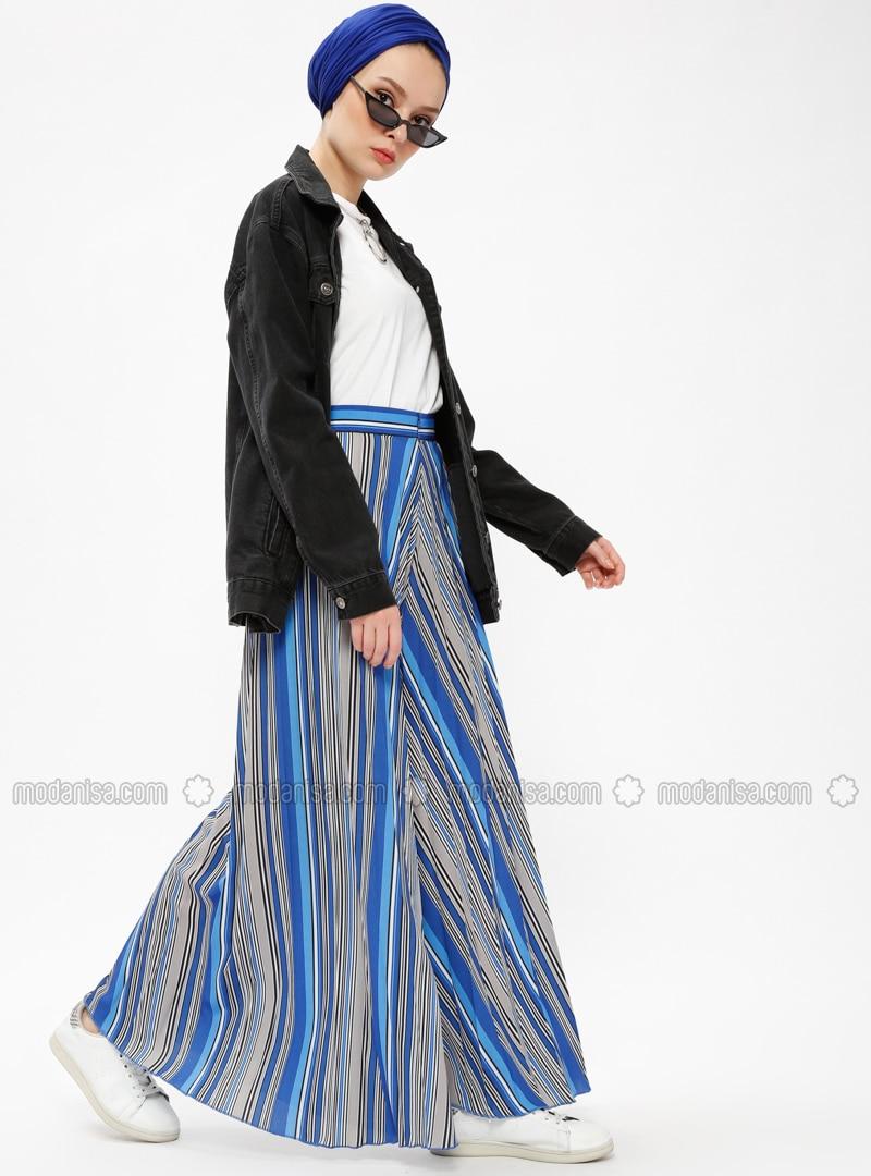Blue - Saxe - Stripe - Pants