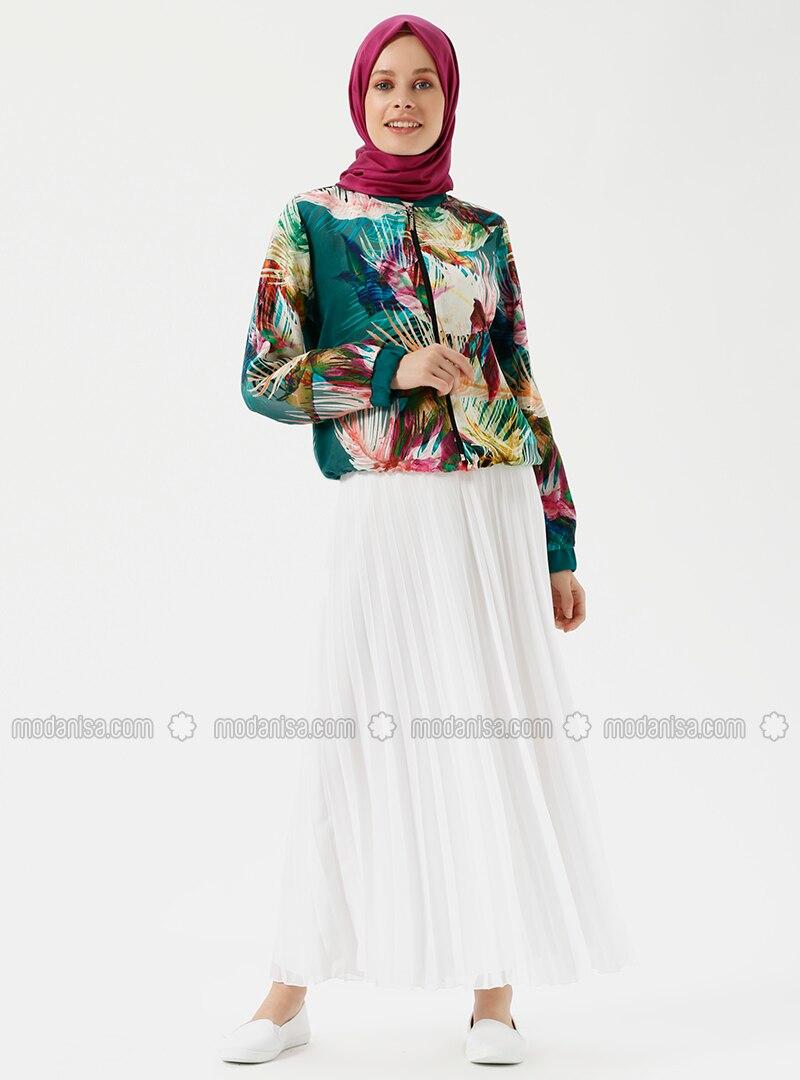 White - Ecru - Fully Lined - Skirt
