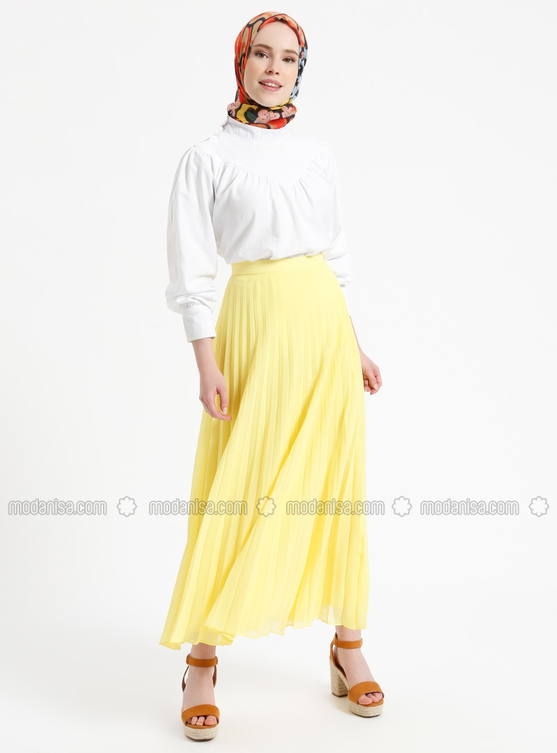 Yellow - Fully Lined - Skirt