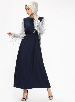 Payetli Elbise - Lacivert - Filizzade Ürün Resmi