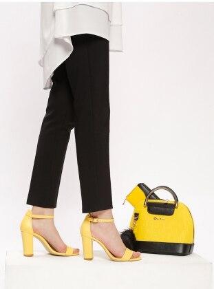 Black - Yellow - High Heel - Suit