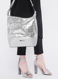 Ayakkabı & Çanta Takım - Gümüş - Sitill