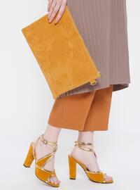 Ayakkabı & Çanta Takım - Hardal - Sitill