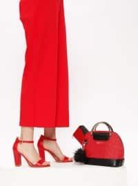 Red - Black - High Heel - Suit