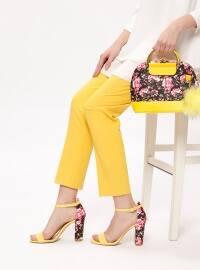 Ayakkabı & Çanta Takım - Sarı - Sitill