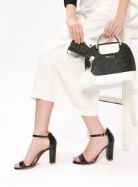 Ayakkabı & Çanta Takım - Siyah Beyaz - Sitill
