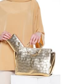Çanta&Cüzdan Takım - Gold - Sitill
