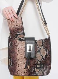 Çanta&Cüzdan Takım - Kahverengi - Sitill
