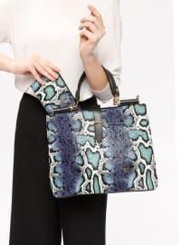 Çanta&Cüzdan Takım - Mavi - Sitill