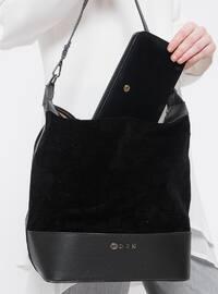 Çanta&Cüzdan Takım - Siyah - Sitill