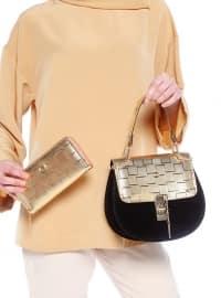 Çanta&Cüzdan Takım - Siyah Gold - Sitill