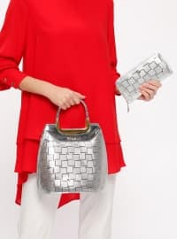 Cüzdan&Çanta Takım - Gümüş - Sitill